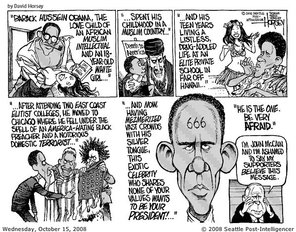 Obama Comic Strip Rides The Fence Between Satire And All Out